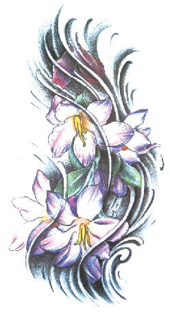 Semink-Tattoo Sticker-Orchids