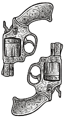 Semink-Tattoo Sticker-Two guns