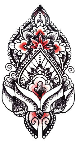 Semink-Tattoo Sticker-A unique cluster of flowers