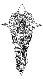 Semink-Tattoo Sticker-Clock machinery