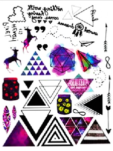 Semink-Tattoo Sticker-Deers and geometrical figure