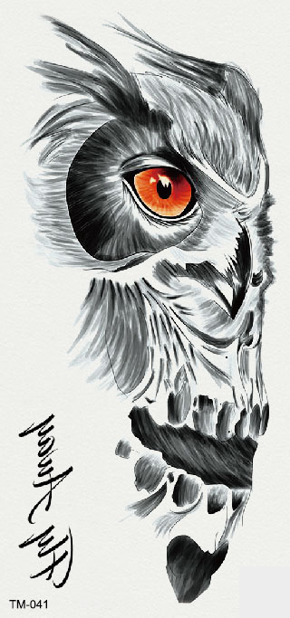 Semink-Tattoo Sticker-Owl Head