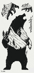 Semink-Tattoo Sticker-Growling Bear