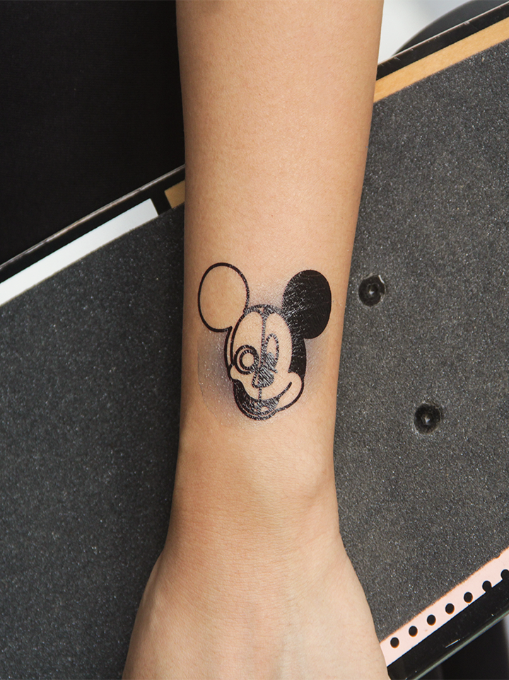 Semink-Tattoo Sticker-Cat Snake Flower And Micky