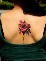 Semink-Tattoo Sticker-Watercolor Rose