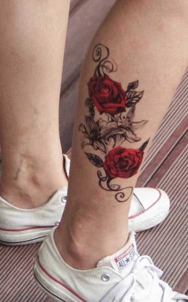 Semink-Tattoo Sticker-Fancy Friday - Red Rose