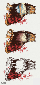 Semink-Tattoo Sticker-Tigers