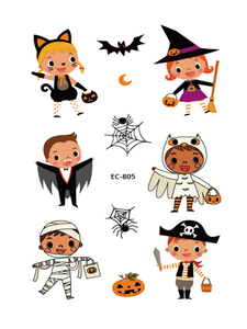 Semink--Halloween Pumpkin Lamp Child Temporary Sticker-I