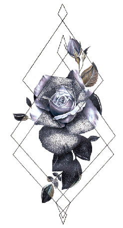 Semink-Tattoo Sticker-Rose and bud
