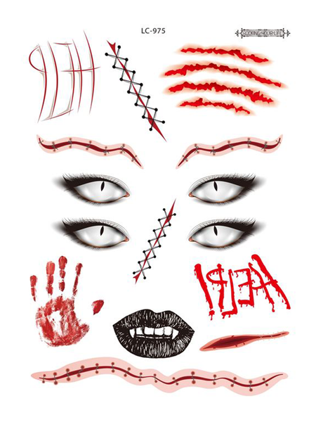 Semink--Halloween Four Eyes Bloody Scary Stickers-I