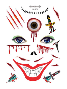 Semink--Halloween Adult Bloody Eyes Masquerade Sticker-I