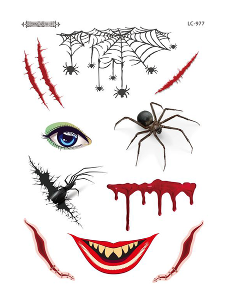 Semink--Halloween Giant Spider Scary Makeup Sticker-I