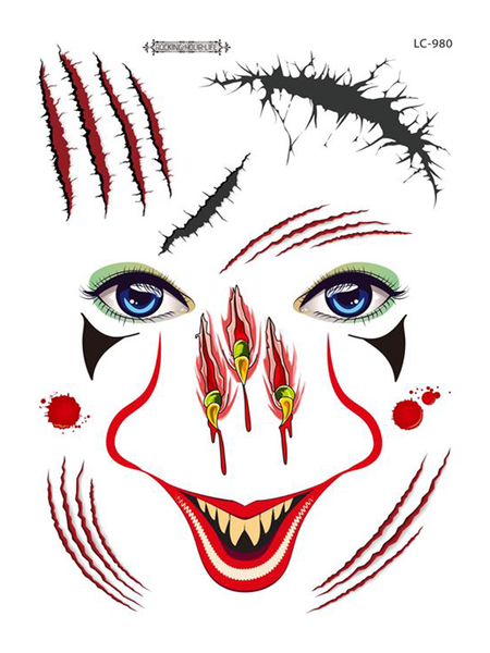 Semink--Halloween Claw Nose Adult Masquerade Face Tattoo Stickers-I