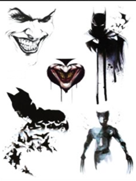 Semink-Tattoo Sticker-Batman and wolverine