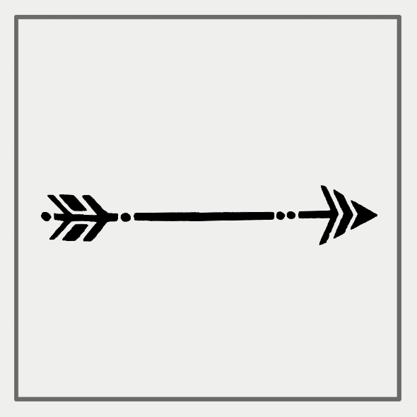 Semink-2 Week Temporary Tattoos-Tribal Arrow