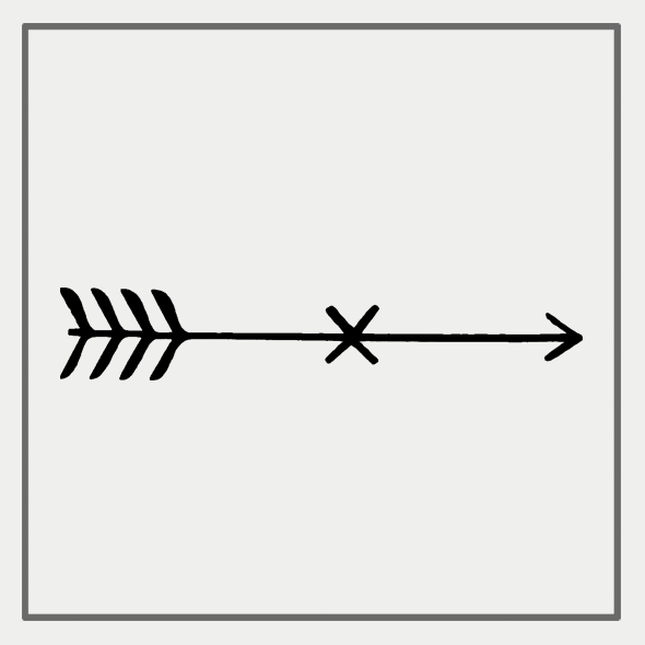 Semink-2 Week Temporary Tattoos-Arrow With A X In The Middle
