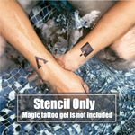 Semink-2 Week Temporary Tattoos-Bold Triangle
