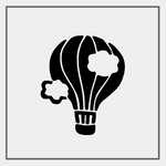 Semink-2 Week Temporary Tattoos-Bulb hot air balloon