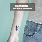 Semink-2 Week Temporary Tattoos-Burning Sun