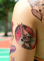 Semink-Tattoo Sticker-Tigers And Deer