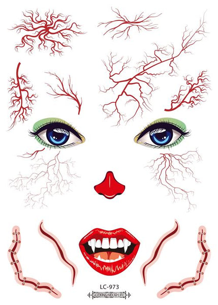 Semink-Tattoo Sticker-Halloween Masquerade Blood Vessel Burst Sticker