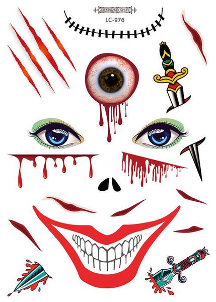 Semink-Tattoo Sticker-Halloween Adult Bloody Eyes Masquerade Sticker