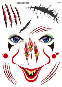Semink-Tattoo Sticker-Halloween claw nose adult masquerade face tattoo stickers