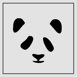 Semink-2 Week Temporary Tattoos-Panda Face
