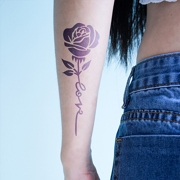 Semink-2 Week Temporary Tattoos-Rose