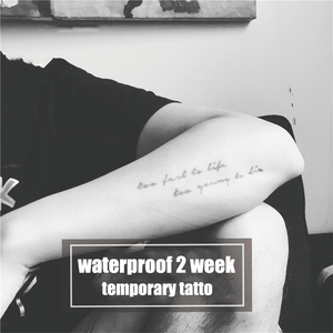 Semink-2 Week Temporary Tattoos-Too Fast To Live, Too Young To Die