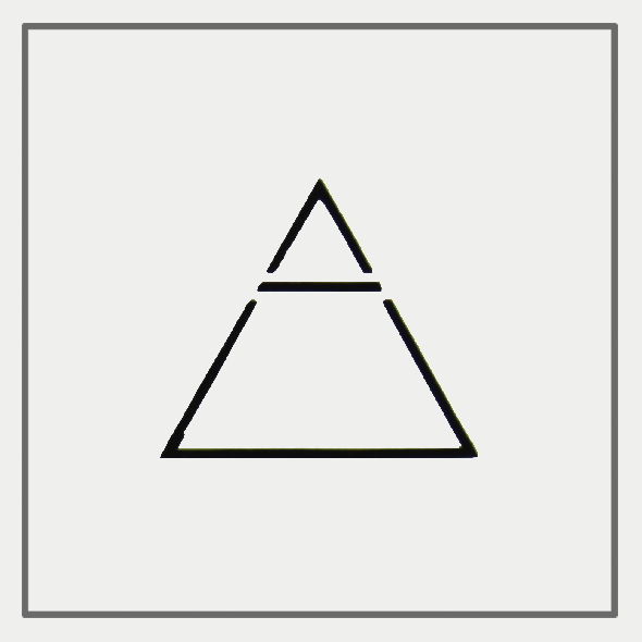 Semink-2 Week Temporary Tattoos-A triangle is crossed by a line