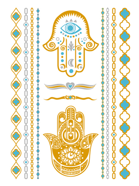 Semink-Tattoo Sticker-Golden Palms With Eyes