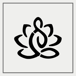 Semink-2 Week Temporary Tattoos-Guanyin Sitting Lotus