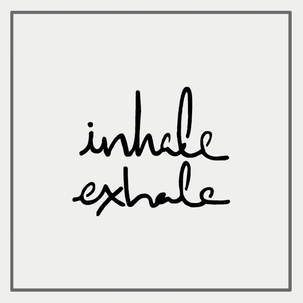 Semink-2 Week Temporary Tattoos-Inhale exhale