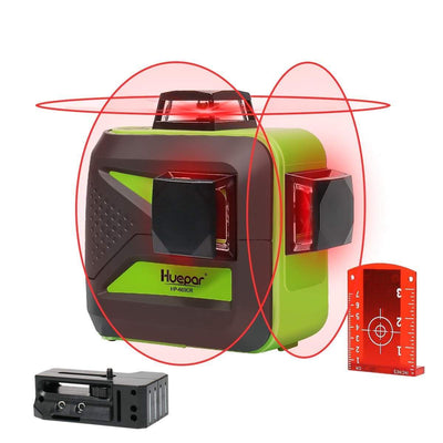 Huepar Rotary laser level Red Cross Line Laser Self Leveling Huepar 603CR 360 degree