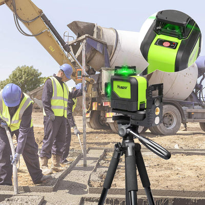 Huepar Rotary laser level green Cross Line Laser Self Leveling Rechargeable 902CG