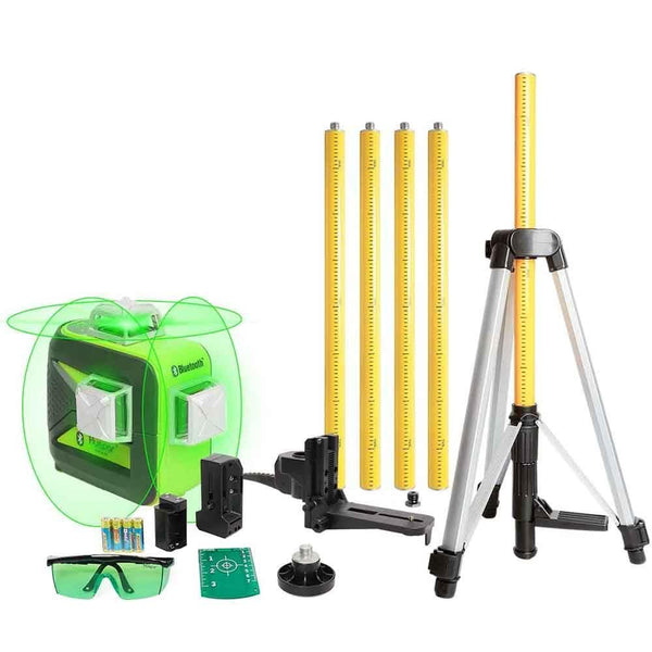 Green Beam Laser Level with Bluetooth, Laser Tool Set Huepar 603LP