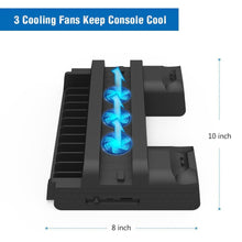 Load image into Gallery viewer, PS4 Gaming Tower with Cooling Fan and Controller Charge Dock
