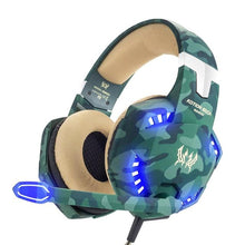 Load image into Gallery viewer, LED Camo Gaming Headset