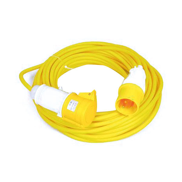 110V 25M Extension Lead - 4mm cable 32A Plug and Trailing Socket