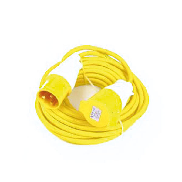 110V 14m Extension Lead - 4mm Cable 32A Plug and Trailing Socket