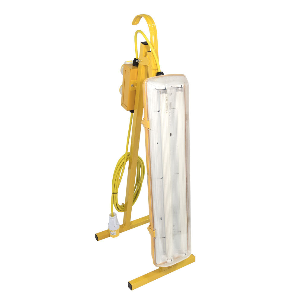 110V 2ft Fluorescent A-Frame Contractors - Plasterer's Light