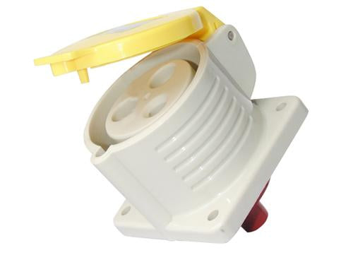 32A 110V Panel Mount Socket IP44 3 Pin