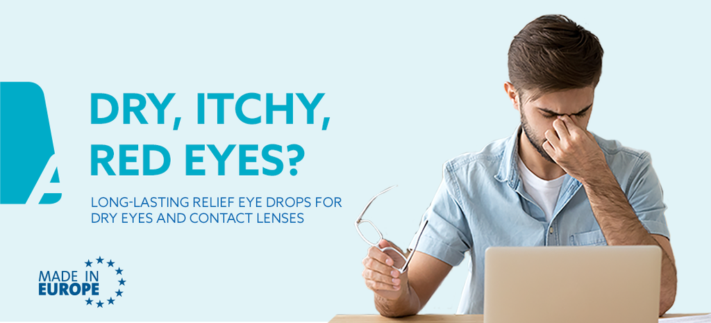 Dry eyes, itchy eyes, red eyes - iGel eye drops help hydrate
