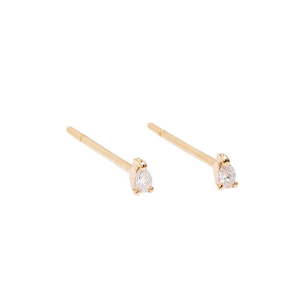Teardrop Diamond Earrings