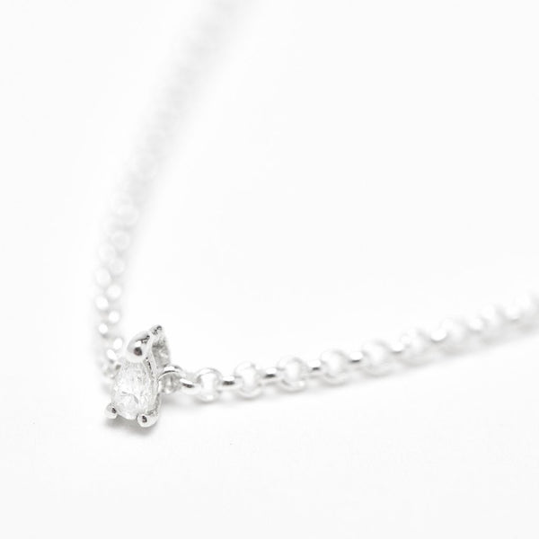 Teardrop Diamond Necklace