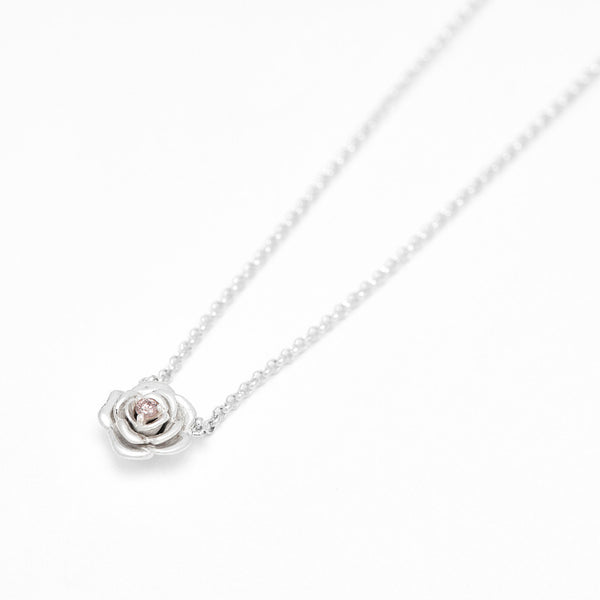 Tea Rose Diamond Necklace
