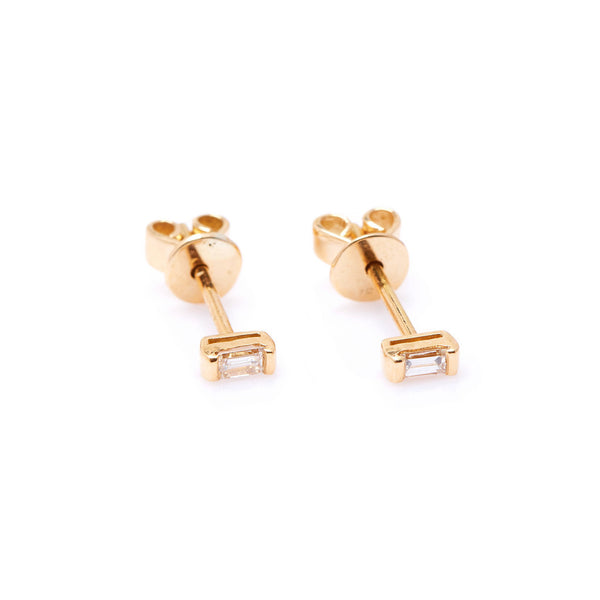 Mod Baguette Diamond Earrings