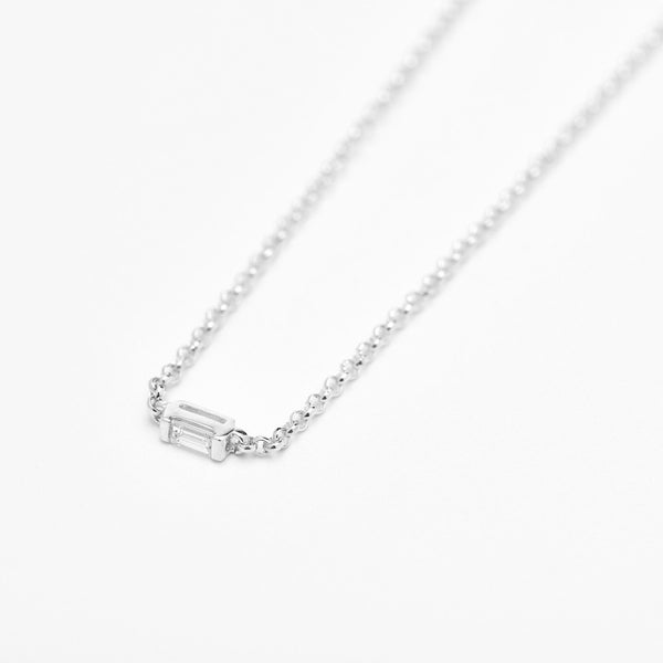 Mod Baguette Diamond Necklace