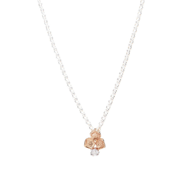 Hydrangea Diamond Necklace